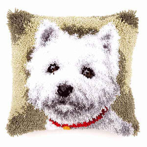 Westie Latch Hook Cushion Kit By Vervaco