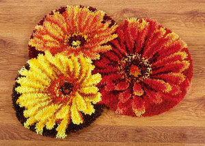 Flower Latch Hook Rug Kit By Vervaco
