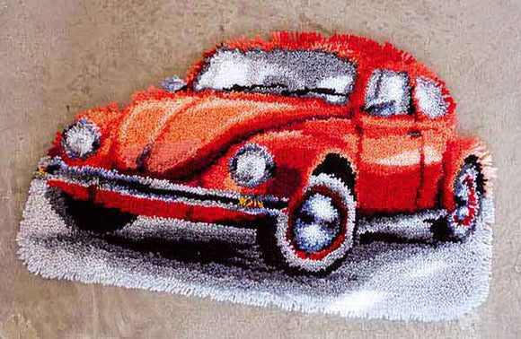 VW Beetle Latch Hook Rug Kit By Vervaco