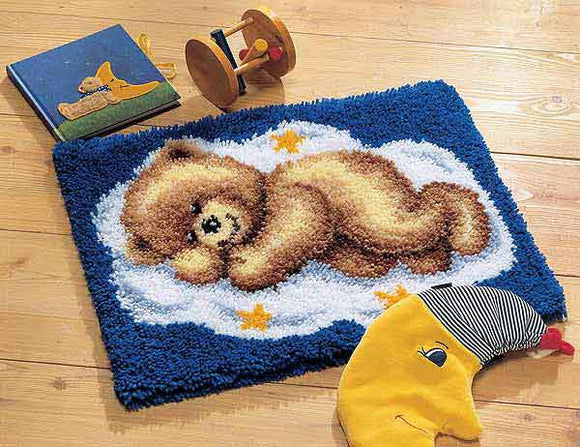 Teddy on a Cloud Latch Hook Rug Kit By Vervaco