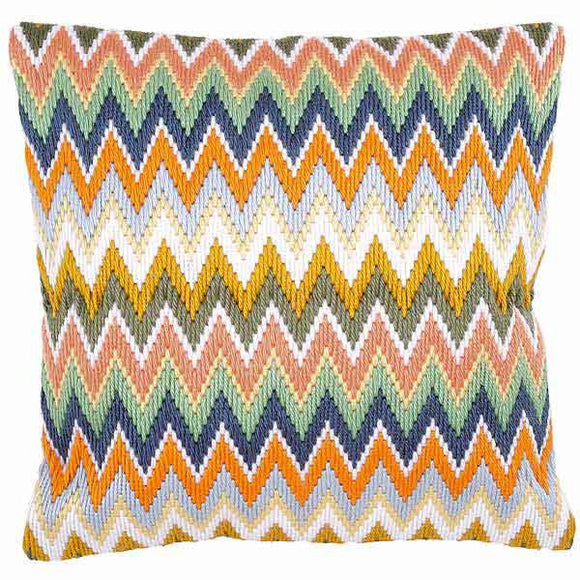 Zig Zag Long Stitch Cushion Kit By Vervaco