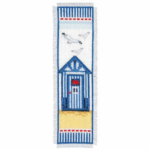 Beach Hut Bookmark Cross Stitch Kit By Vervaco