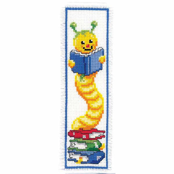 Bookworm Bookmark Cross Stitch Kit By Vervaco