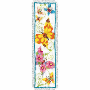 Butterflies Bookmark Cross Stitch Kit By Vervaco