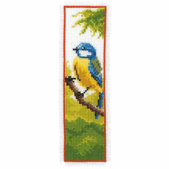 Blue Tit Bookmark Cross Stitch Kit By Vervaco