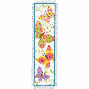 Pretty Butterflies Bookmark Cross Stitch Kit By Vervaco