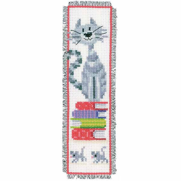Cat Bookmark Cross Stitch Kit By Vervaco