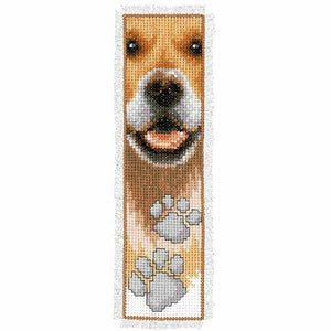 Dog Paws Bookmark Cross Stitch Kit By Vervaco