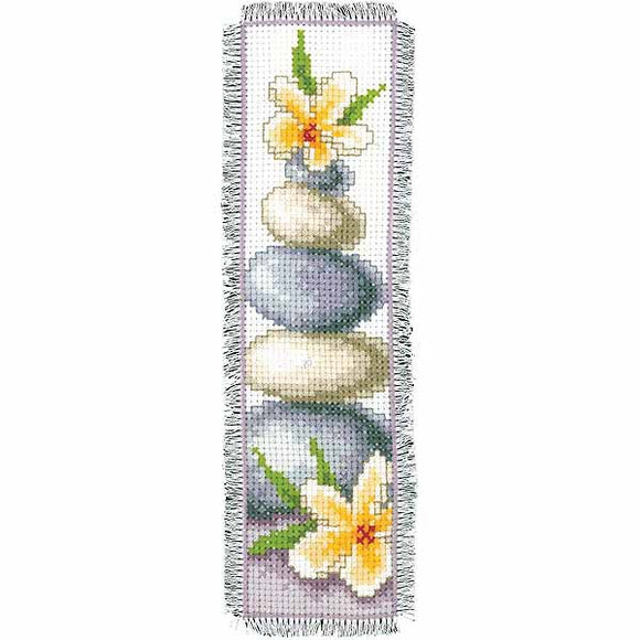 Frangipani Bookmark Cross Stitch Kit By Vervaco