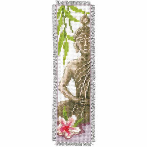 Buddah Bookmark Cross Stitch Kit By Vervaco