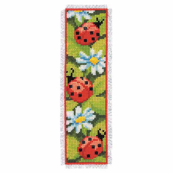 Ladybirds Bookmark Cross Stitch Kit By Vervaco