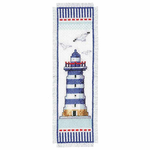 Lighthouse Bookmark Cross Stitch Kit By Vervaco