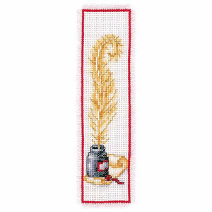 Quill and Ink Bookmark Cross Stitch Kit By Vervaco