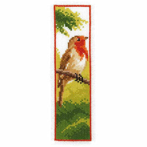 Robin Bookmark Cross Stitch Kit By Vervaco