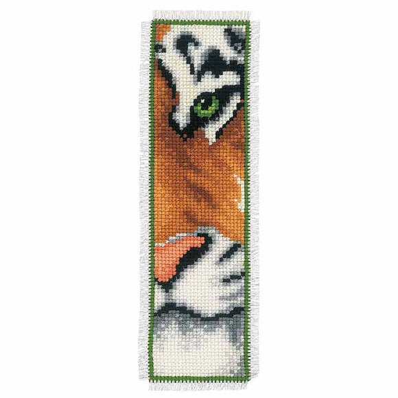 Tiger Bookmark Cross Stitch Kit By Vervaco