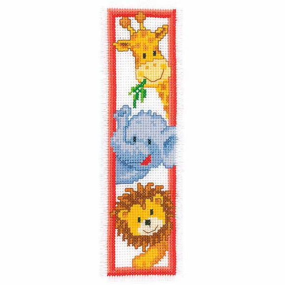 Zoo Animals Bookmark Cross Stitch Kit By Vervaco