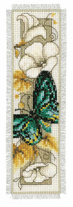 Blue Butterfly Bookmark Cross Stitch Kit By Vervaco