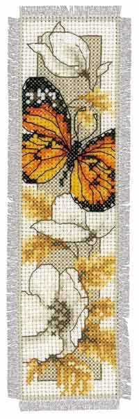Butterfly Bookmark Cross Stitch Kit By Vervaco