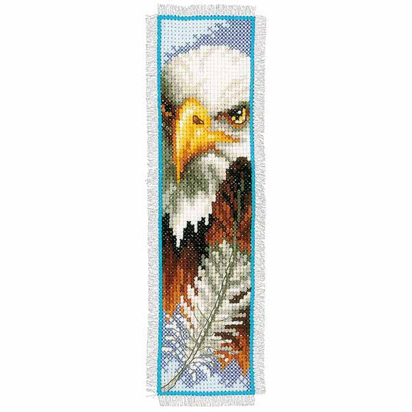 Eagle Bookmark Cross Stitch Kit By Vervaco