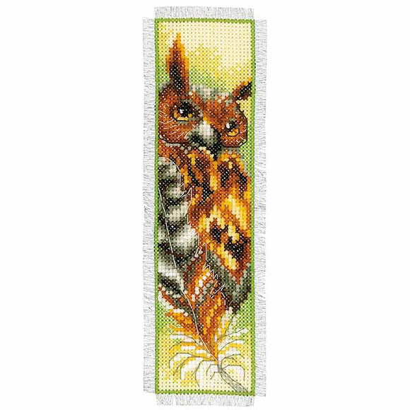 Owl Bookmark Cross Stitch Kit By Vervaco
