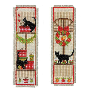 Christmas Cats Bookmark Cross Stitch Kit By Vervaco