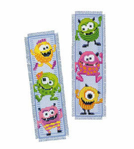 Little Monsters Bookmark Cross Stitch Kit By Vervaco