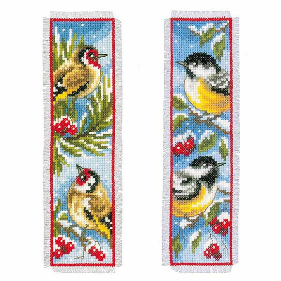 Birds in Winter Bookmark Cross Stitch Kit By Vervaco