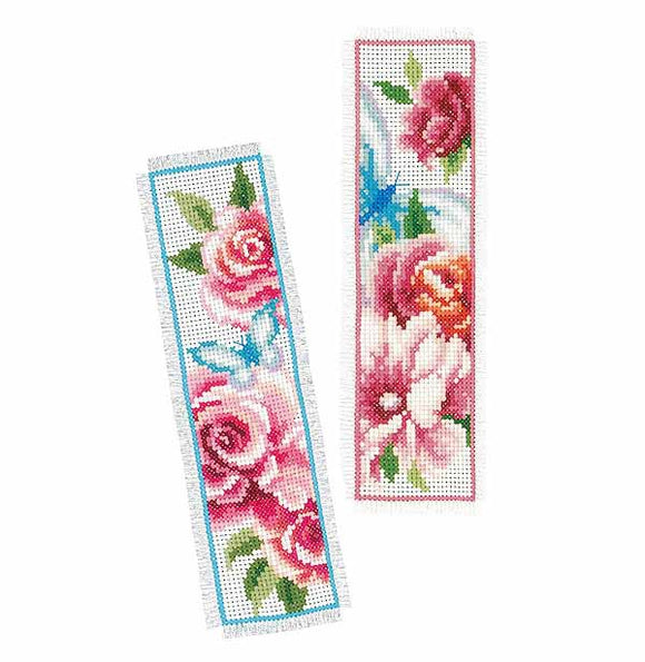Flowers and Butterflies Bookmark Cross Stitch Kit By Vervaco
