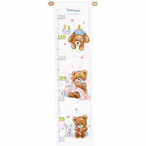 Lovely Bears Height Chart Cross Stitch Kit By Vervaco