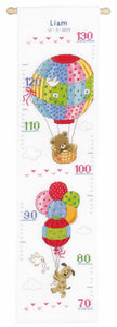 Balloons Height Chart Cross Stitch Kit By Vervaco