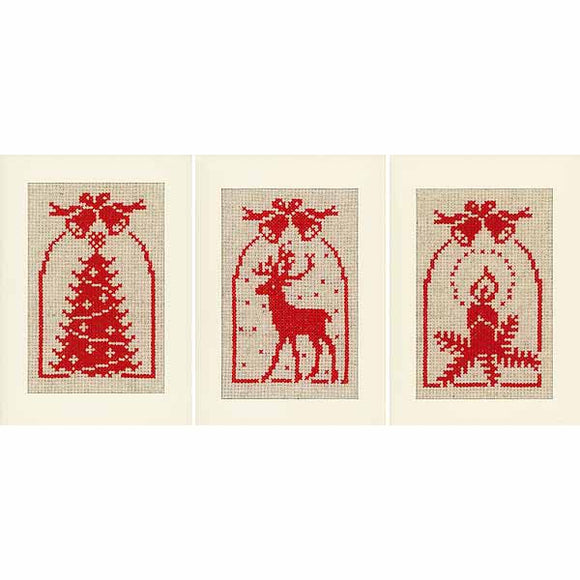 Traditional Cross Stitch Christmas Card Kit By Vervaco