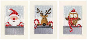 Christmas Buddies Cross Stitch Christmas Card Kit By Vervaco