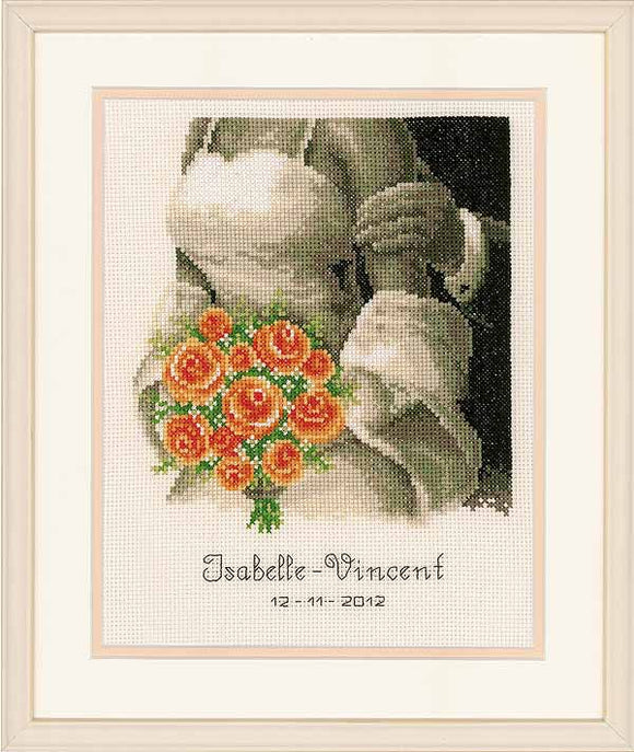 The Bouquet Wedding Sampler Cross Stitch Kit By Vervaco