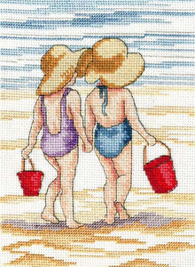 Red Buckets All Our Yesterdays Cross Stitch Kit by Faye Whittaker