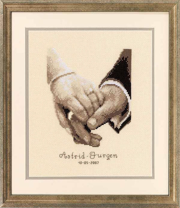 Wedding Happiness Wedding Sampler Cross Stitch Kit By Vervaco