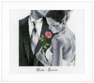 Rose of Love Wedding Sampler Cross Stitch Kit By Vervaco