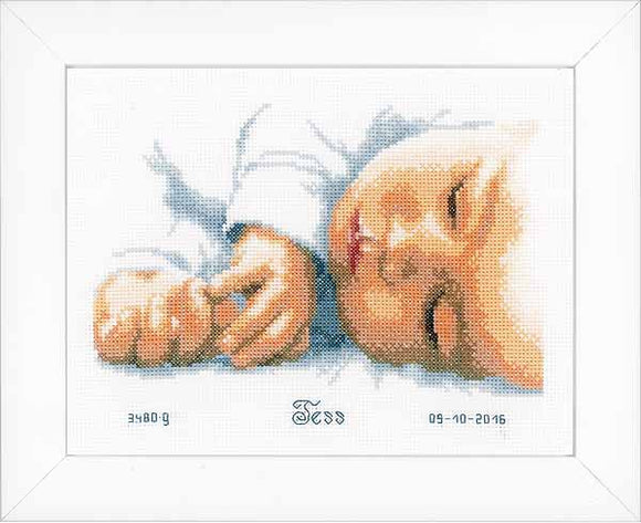 New Born Birth Sampler Cross Stitch Kit By Vervaco