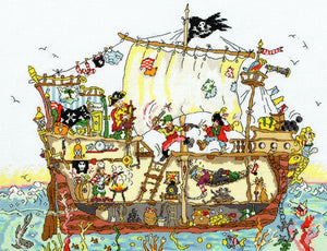 Cut Thru Pirate Ship Cross Stitch Kit By Bothy Threads