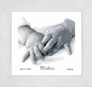 Baby Hands Birth Sampler Cross Stitch Kit By Vervaco