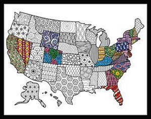 USA Map Zenbroidery by Design Works