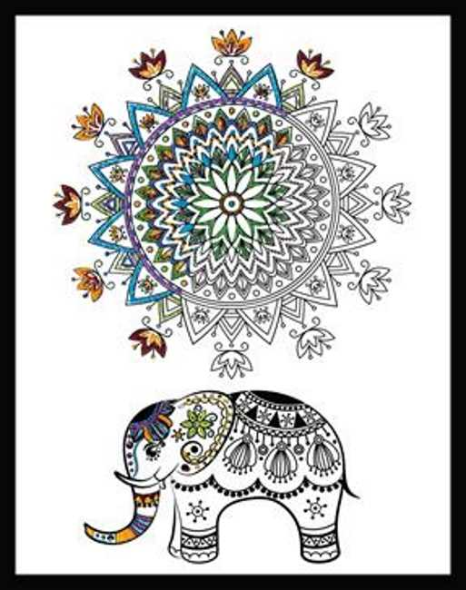 Elephant Mandala Zenbroidery by Design Works