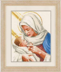Maria and Jesus Cross Stitch Kit By Vervaco