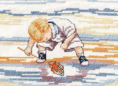 Starfish Finder All Our Yesterdays Cross Stitch Kit by Faye Whittaker
