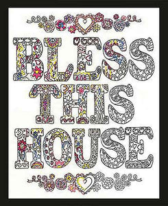 Bless this House Zenbroidery by Design Works