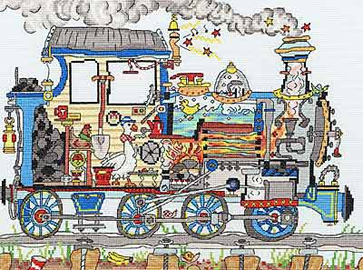 Cut Thru Steam Train Cross Stitch Kit By Bothy Threads