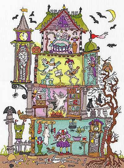 Cut Thru Haunted House Cross Stitch Kit By Bothy Threads