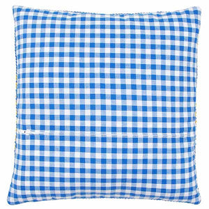 Blue Gingham Cushion Back Finishing Kit by Vervaco (45 x 45cm)