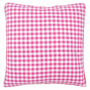 Pink Gingham Cushion Back Finishing Kit by Vervaco (45 x 45cm)