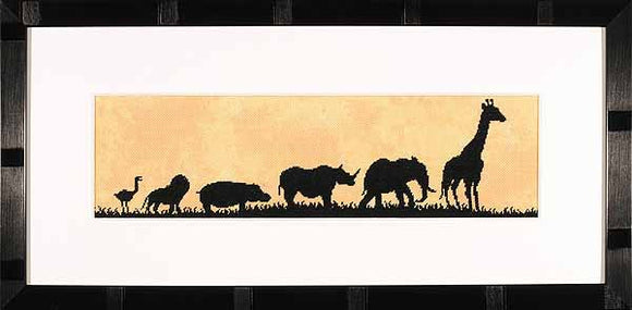 Parade of Wild Animals Cross Stitch Kit By Lanarte