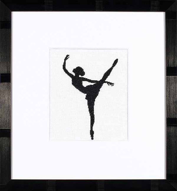 Ballet Silhouette Cross Stitch Kit By Lanarte